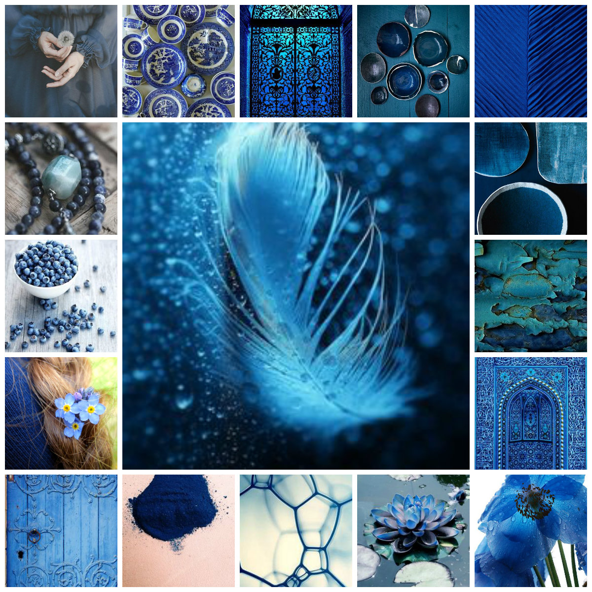 collage blue