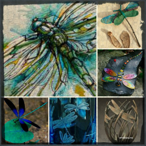 collage dragonfly