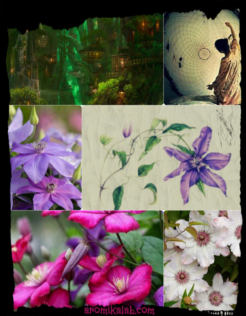 collage clematis